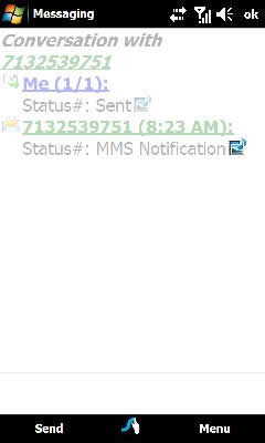 Tap the MMS notification icon