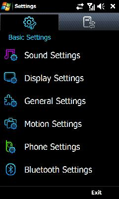 Tap Sound Settings