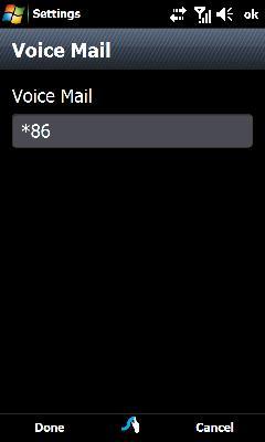 Oprime el campo Voice Mail