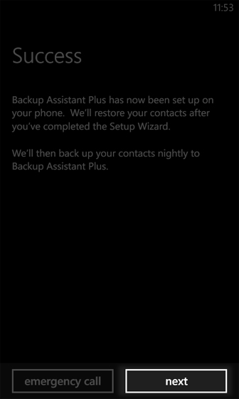 Backup Assistant Plus Setup Successful