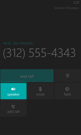 Keypad select speakerphone