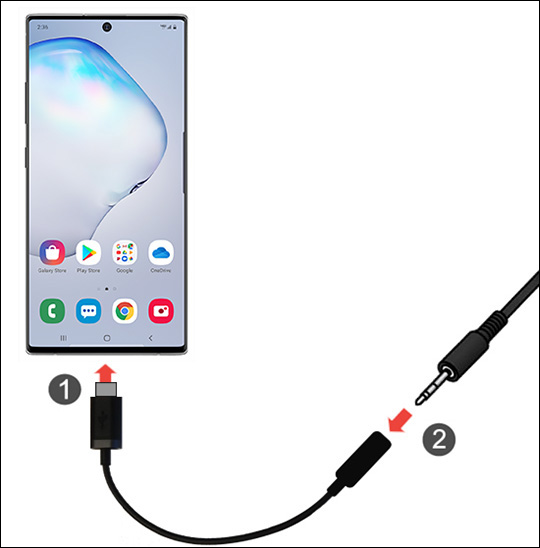 Samsung Galaxy Note10 Connect A Headset Verizon