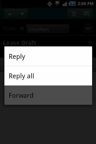 Message with reply options