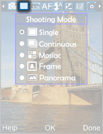 Select Shooting Mode