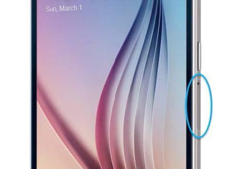 Bandeja SIM con indicadores LDI de Samsung S6