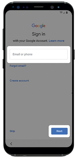 Sign in to your Gmail account