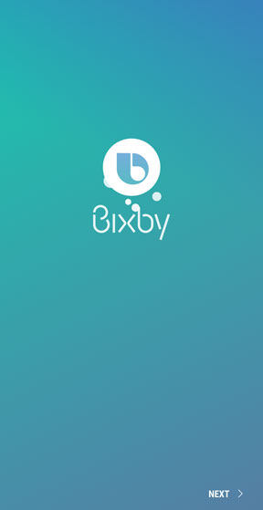Bixby setup screen