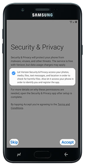 Security & Privacy screen