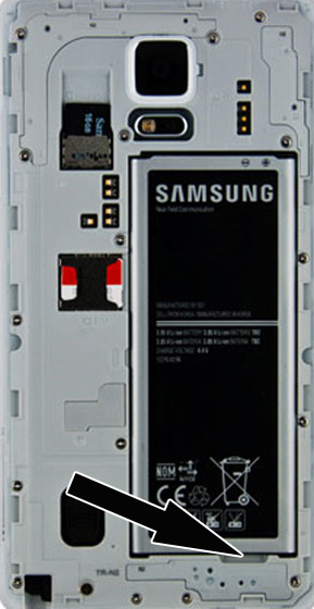 Battery compartment notch