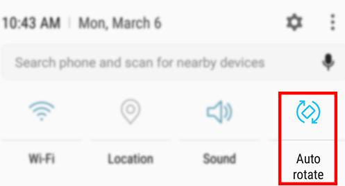 Samsung Galaxy Note5 - Turn Screen Rotation On / Off | Verizon Wireless