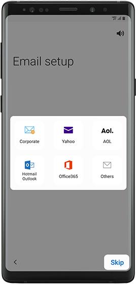Configuración de email