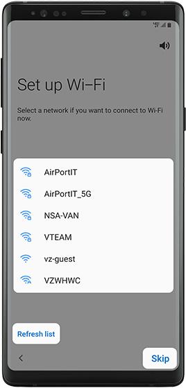 Configura Wi-Fi