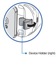 Right device holder