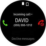 Incoming call screen