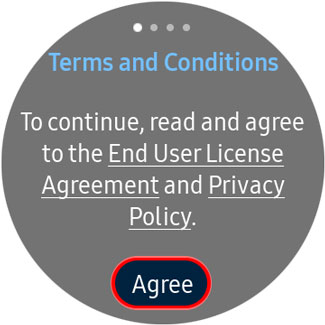 Agree to end user license and privacy policy