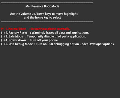 Maintenance Boot Mode with Normal Boot