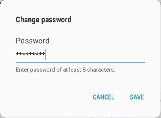 Change password prompt