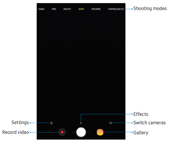 Main camera screen