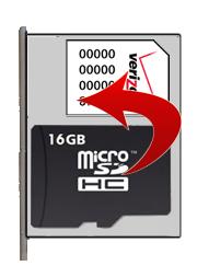 Quita la tarjeta de memoria