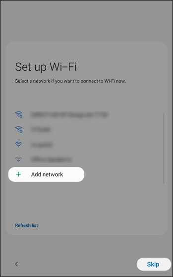 Add Wi-Fi network