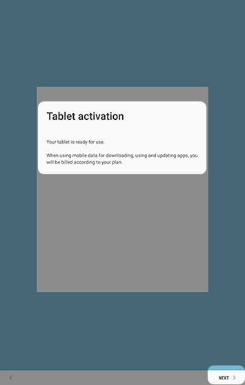Tablet activation