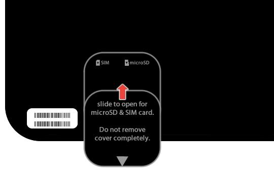 Close microSD/SIM cover