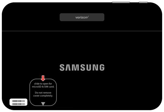 Open microSD/SIM cover