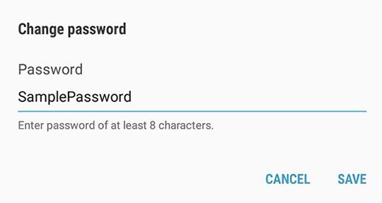 Hotspot password