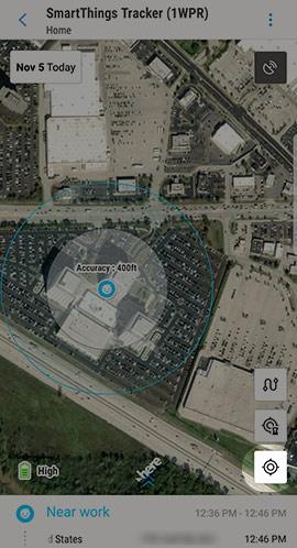 Tracker location