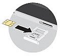 Insert SIM card in Tray