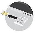 Insert SIM card in Tray