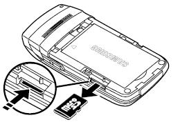 Quitar la tarjeta microSD