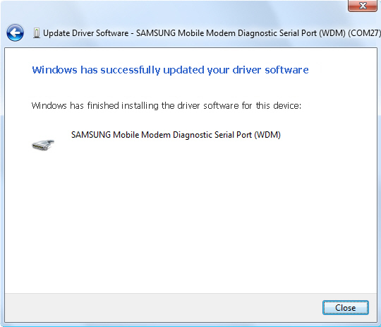 Update driver software screen 3