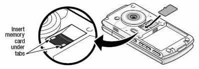 Insertar la tarjeta de memoria