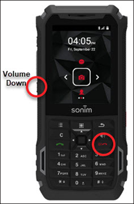 Press and Hold Volume Down Button