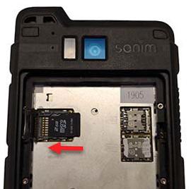 insert SD card