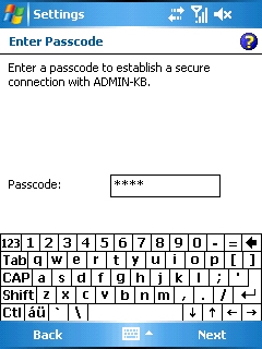 Enter Passcode screen with passcode entered