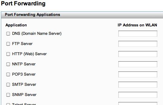 Transferencia de puerto, Dirección IP