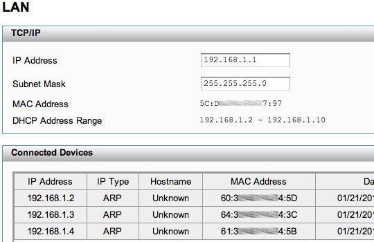 Configuraciones LAN
