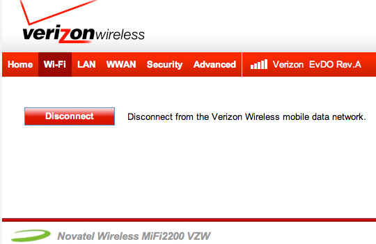 Change the Wi-Fi Password - Verizon Wireless MiFi 2200 OTA
