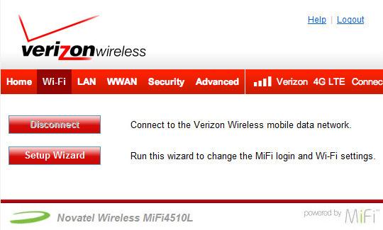 Pantalla de inicio, Wi-Fi