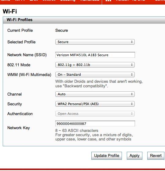 Configuraciones Wi-Fi