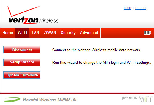 Change the Wi-Fi Password - Verizon Jetpack 4G LTE Mobile