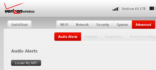 Audio Alerts with Locate My MiFi