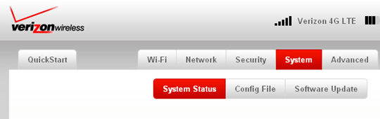 System tab con System Status