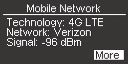 Mobile Network LCD Details Screen