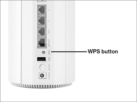 Verizon 5G Home Router WPS button position