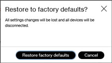 5G Home restore to factory defaults confirmation