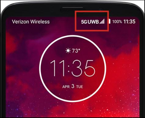 5G status and signal bars