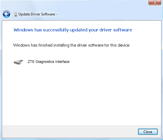 Pantalla 3 del software de actualización del controlador